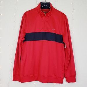 IZOD Performance Golf Long Sleeve Pullover Shirt
